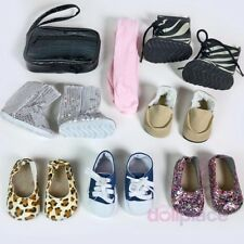 "18 inch Doll Shoes LOT Fits American Girl 8 pc Set New 18"" Boots Sneakers Purse"