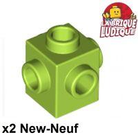 Lego 4x Brick Brick 1x3 Green Olive Green 3622 New
