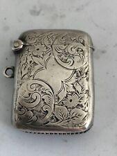 More details for an edwardian silver vesta case birmingham, chased 1910 approx 1/2 oz 4cm