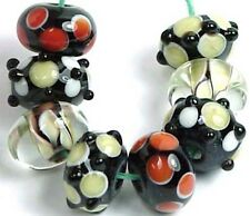 LAMPWORK Handmade Glass Beads  Rondelle ~ Titan~~~Color (8)