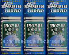 Aquafilter 3 PACK Disposable Cigarette Filters - 30 pcs - Aqua Filter SHIPS FREE