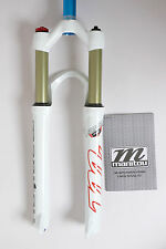 """2017 Manitou 26"""" 1-1/8"""" Suspension fork R7 manual Disc Only 100mm White mr-ride"""