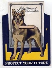 1930s JOHN HANCOCK LIFE INSURANCE Paper Piggy Bank DOG Protect Your Future AD