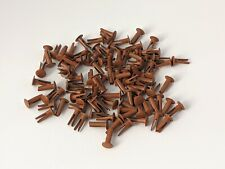 """100 Vintage Bifurcated Split Rivets 1/2""""/ 14 mm Golden Brown UK made LAND ROVER"""