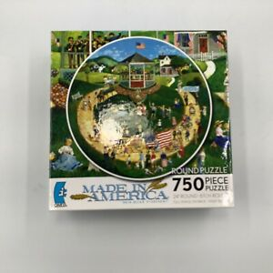 Ceaco Holiday Parade 4th of July Americana Jigsaw Puzzle Round 750 Piece used
