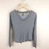 Urban Outfitters BDG Women's Size XS White Gray Striped Top