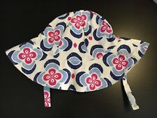 NWT Gymboree Girl 6-12 Months Floral Sun Hat With Chin Strap. Free Shipping!