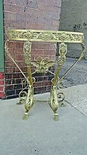 Metal Art Baroque Antique French accent half table with eagle