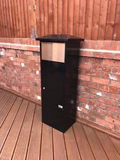 Metz Gros Noir + Inoxydable Lettre Post Mail Box Letterbox Drop Tall Parcel Box