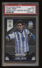 2014 WORLD CUP Prizm LIMITED EDITION Parallel #12 Lionel Messi! PSA 10 GEM! 6/7!