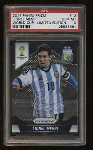 2014 WORLD CUP Prizm LIMITED EDITION #12 Lionel Messi! PSA 10 Gem! ARGENTINA! /7