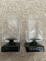 Di Saronno DiSaronno Black Square Footed Rocks Cordial Bar Glasses Lot of 2 EUC