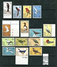 BRITISH INDIAN OCEAN TERRITORY 1975 Birds. SG 62-76. Mint Never Hinged.