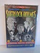 "Triple movie treat Sherlock Holmes Dvd ""brand New & Sealed"""