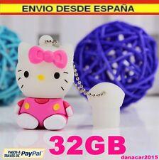 PEN DRIVE PENDRIVE DE HELLO KITTY ROSA 32GB 32 GB MEMORIA USB (4 8 16 64 64GB)!!