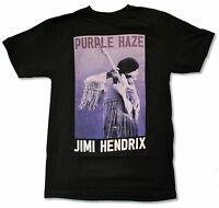 Jimi Hendrix Guitar Black T Shirt New Official Portrait Purple Haze