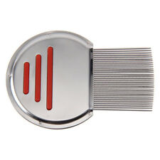 Lice Nit Comb Get Down to Nitty Gritty Stainless Steel Metal Head and Teeth EA Blue