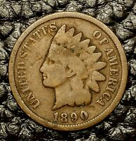 1890 Indian Head Cent ~ Good (GD) Condition ~ $20 ORDERS SHIP FREE!