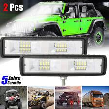 2x LED Arbeitsscheinwerfer 48W 16 LED Strahler Flutlicht Nebel Lampe LKW SUV 12V