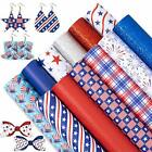 Whaline 4th of July Faux Leather Sheets 8 x 12 Inch Patriotic Synthetic Leath...