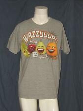 Annoying Orange Wazzuup!! Gray L Large T-Shirt Worn