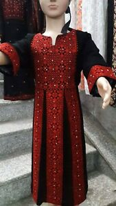Embroidered Girl kids Traditional Dress Thob Abaya Palestine Jordan 1-10 Years