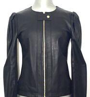 PATRIZIA PEPE Damen Lederjacke Jacke Leatherjacket schwarz black NEU ETIKETT!
