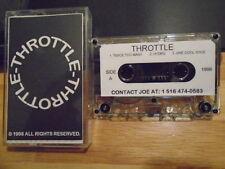 RARE PROMO Throttle DEMO CASSETTE TAPE hard rock Medford NY UNRELEASED '98 metal
