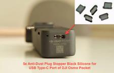 5x Anti-Dust Plug Stopper Black Silicone for USB Type-C Port of DJI Osmo Pocket