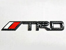 For Toyota TRD Emblem Big Carbon Fiber CF badge sticker decal Logo Supra TC JDM