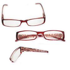 Burgundy Designer High Power Extra Strong Reading Glasses +5.00 Lens Strength