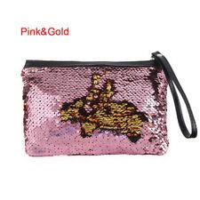 Lady Reversible Sequins Mermaid Glitter Handbag Evening Clutch Bag Wallet Purse