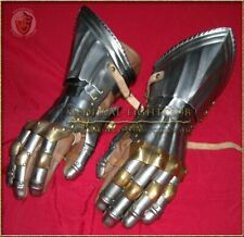 Gothic Fluted Gauntlets - Brass knuckles - Large
