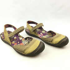 KEEN Women's Summer Golden Olive Canvas/Leather Ankle Strap Closed Toe Sandals 9