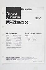 PIONEER S-424X Original Speaker System Service-Manual/Anleitung/Schaltplan! o68
