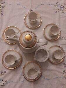 Servizio Caffè Mitterteich Bavaria Bordo Decoro Oro Vintage