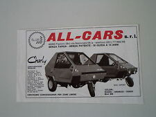 advertising Pubblicità 1977 ALL-CARS CHARLY 50