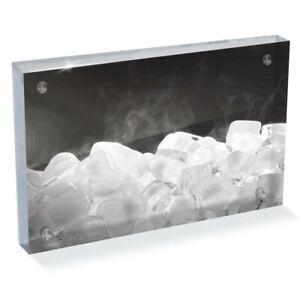 """Photo Block 6 x 4""""  - BW - Freezing Ice Cubes Frozen  #39617"""