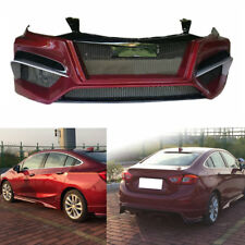 Resin Matte Black Front+Rear Bumper+Side Bodykit For Chevrolet Cruze 2016-2017