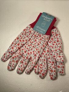 Gardeners Select Gardening Gloves, Multi Purpose Washable - Floral Pattern Nw/T