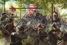 More details for american civil war 1861 to 1865  reproduction  print  framed