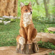 Realistic Regal Fox Outdoor Garden Statue