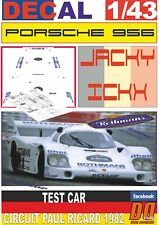 DECAL 1/43 PORSCHE 956 ROTHMANS TEST CAR J.ICKX PAUL RICARD 1982 (02)