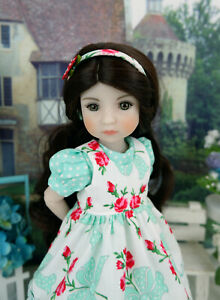 """Rose Beauty - pinafore, dress & shoes for 14.5"""" Ruby Red Fashion Friends doll"""