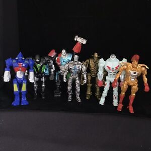 """REAL STEEL Action Figures - 5"""" - Job Lot Of 7 Robots - Good Condition Toys"""