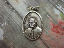 Vintage Catholic Medal Pope St. Pius X with Vatican 25mm silver finish pendant