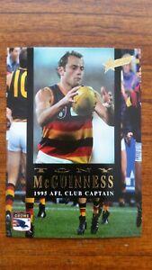 1995 SELECT AFL CLUB CAPTAIN TONY McGUINNESS CARD