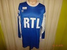 "Olympique de Marseille Adidas Manches Longues Coupe de France maillot 1990 ""RTL"" Nº 3 Taille XL"