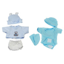 2 Set Baby Doll Clothes Hat Set Outfits for 10-11inch Reborn Doll Dress Up