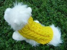 XXXS handmade knit Yellow dog sweater